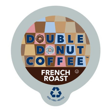 Double Donut French Roast Coffee, in Recyclable Single Serve Cups for Keurig K-Cup Brewers, 80 Count