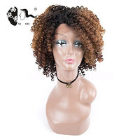 Afro Wig Synthetic Kinky Curly Short Brown Wigs For Black Women Dark Roots Brown Heat Resistant Full Wigs For Women With Wig Cap