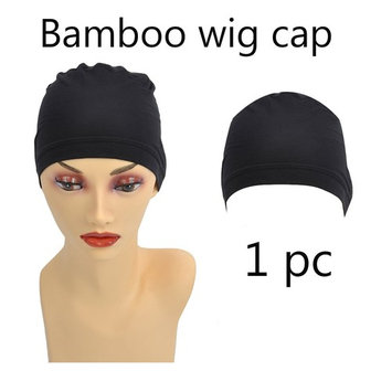 Bamboo Fiber/Sterilization/Sweat Proof/Wig Hair Stock Liner Cap Stretch Mesh Net 1PC for Women with Cancer, Chemo, Hair Loss
