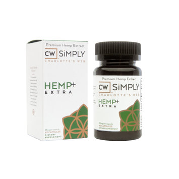 Charlotte's Web By The Stanley Brothers CW SiMPLY Hemp+ Extra Capsules, 60 Ct