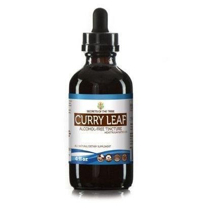 Secrets Of The Tribe Curry Leaf Tincture Alcohol-FREE Extract, Organic Curry Leaf (Murraya koenigii) Dried Leaf 4 oz