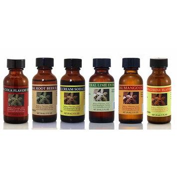 Bakto Flavors Natural Flavors Soda Stream Collection Version 3-6 (1 FL OZ) Bottles - Cream Soda, Cola, Root Beer, Tangerine, Lime, Mango
