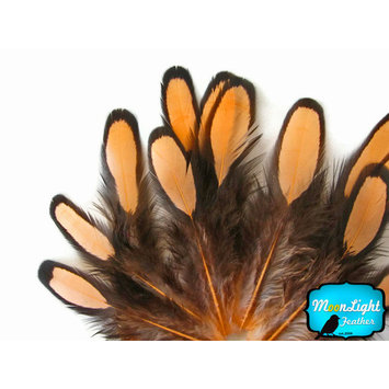 12 Strands - Happy Mix Thin Long Grizzly Rooster Hair Extension Feathers