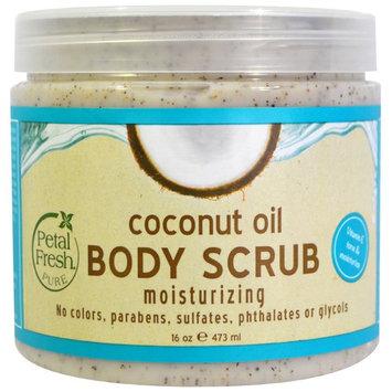 Petal Fresh, Pure, Body Scrub, Moisturizing, Coconut Oil, 16 oz (473 ml) [Scent : Coconut Oil]