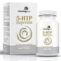 Morning Pep 5-HTP SUPREME 60 Vegetarian Caps, Is A Custom Formulated Natural Relaxation Sleep Aid Support Supplement