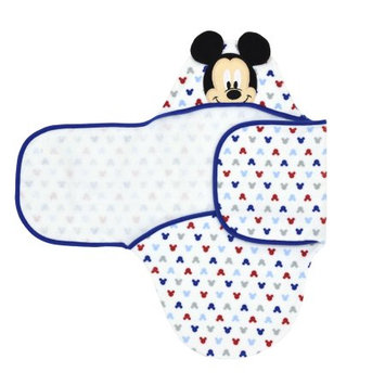 Fisher-price Disney Baby Mickey Mouse Embroidered Hooded Bath Swaddle