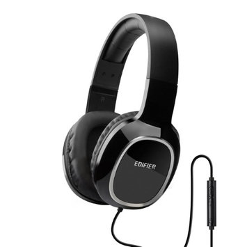Edifier M815 Over-the-ear Headphones with Mic and Volume Control - Single Plug - Black