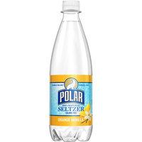 Polar Seltzer Water, Orange Vanilla, 20 Fl Oz, 24 Count