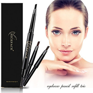 Double Headed Rotary Automatic Waterproof Eyebrow Pencil Cosmetic Brush, 3 Colors Set, Long Lasting by AsaVea