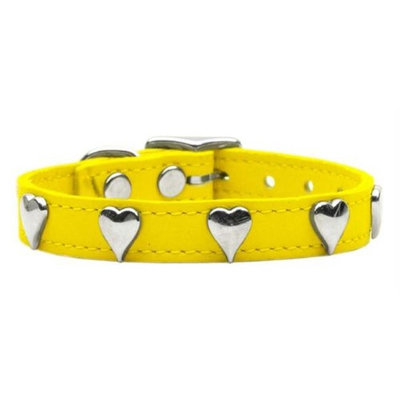 Mirage Pet Products 8315 10YW Heart Leather Yellow 10