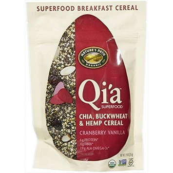 Six-Pack Nature's Path Qi'a Chia Buckwheat and Hemp Cereal, Cranberry Vanilla, 7.90 Ounce Each