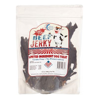 Chasing Our Tails, Inc. American Made Treat Company Grain Free Beef Jerky Dehydrated Dog Treat, 12 Oz