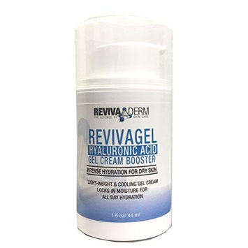 Dry Winter Special! RevivaGel Hyaluronic Acid Gel Cream Hydro-boost – Advanced Repair Hydration for Dry Skin – Light Weight & Cooling Cream – Water-Gel Locks-in Moisture for All Day – 1.5 oz
