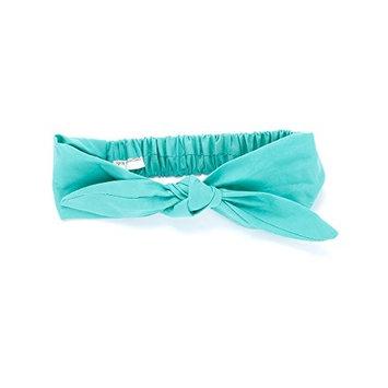 Peppercorn Kids Bow Tie-Up Headwrap - Solid - Aqua
