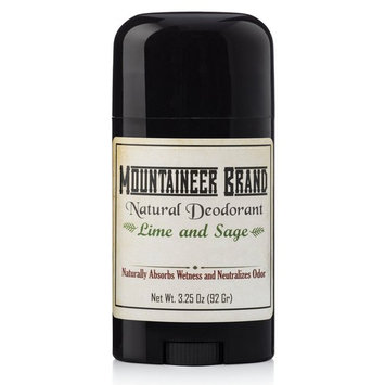 Mountaineer Brand All Natural Deodorant: Lime and Sage-Aluminum Free for Men and Women 3.25 oz
