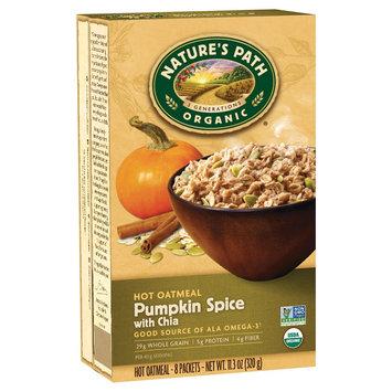 Nature's Path Organic Pumpkin Spice with Chia Hot Oatmeal Oats - 8ct 11.3oz