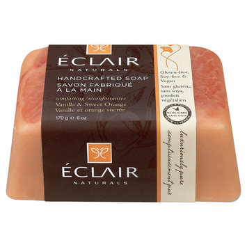 Eclair Naturals Handcrafted Bar Soap Vanilla & Sweet Orange 6 oz