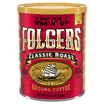 Folgers Vintage Tin Classic Roast Ground Coffee 10.3oz