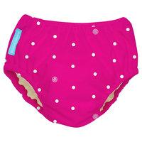 Charlie Banana Reusable Swim Diaper, Hot Pink/White Dot, L, Dots On Hot Pink