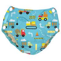 Charlie Banana Reusable Easy Snaps Swim Diaper, Under Construction M, Multicolored