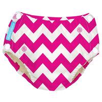 Charlie Banana Reusable Easy Snaps Swim Diaper, Pink Chevron, XL, Multicolored