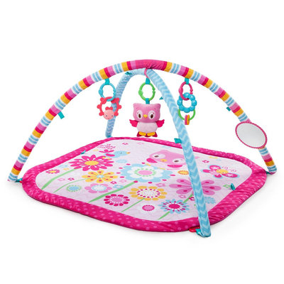Bright Starts Fancy Flowers Activity Gym - Multi-colored, Pink