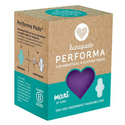 Lunapads Performa High Absorbency Long Purple Washable Maxi Pad - 1 Count