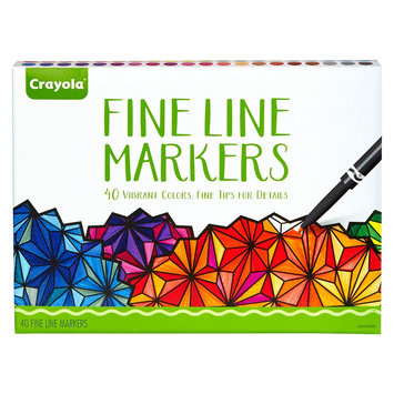 Crayola Aged Up Fine Line Markers - 40 Count