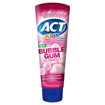 Act Kids Toothpaste Bubblegum 4.6oz