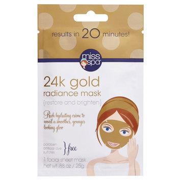 Miss Spa Restore and Brighten 24k Gold Radiance Mask 0.88 oz