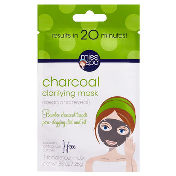 Miss Spa Clean and Reveal Clarifying Charcoal Mask 0.88 oz