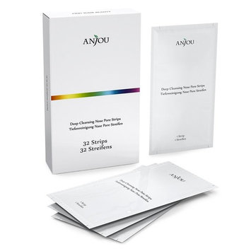 Anjou Blackhead Removing Nose Strips, 32 Strips Last 4-6 Months, Anti-Bacterial & Anti-Inflammatory, Easy Usage, And Ergonomic Design