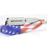 MD American Flag Swing Lock Razor