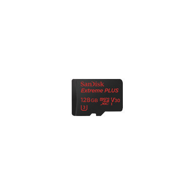 Sandisk - Extreme Plus 128GB Microsdxc Uhs-i Class 10 Memory Card