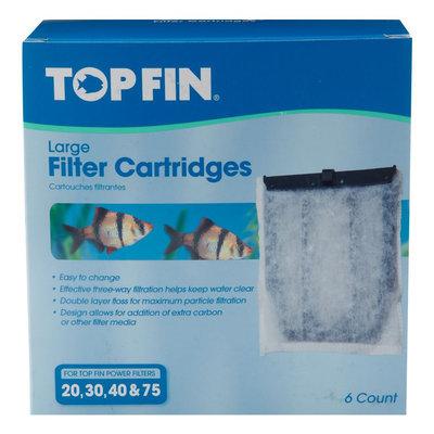 Top Fin® Large Aquarium Filter Cartridge size: 6 Count