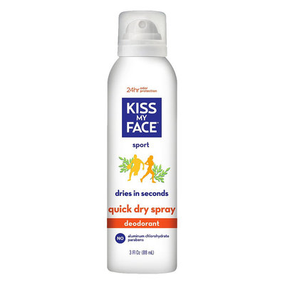 Kiss My Face Quick Dry Spray Deodorant Sport - 3oz, Clear