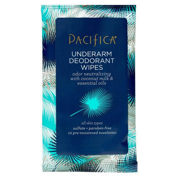 Pacifica Trial Travel Deodorant Wipes Mini 10 ct, White