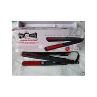 USED-Kqc Red Devil Tourmaline Ceramic Flat Iron
