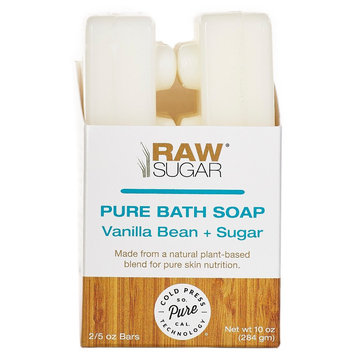 Raw Sugar Pure and Natural Bar Soap Vanilla Bean Sugar