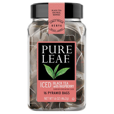 Pure Leaf Black Tea with Raspberry in Pyramid Bags 16ct