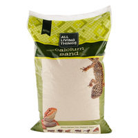 All Living Things® All-Natural Reptile Calcium Sand size: 20 Lb, Ivory