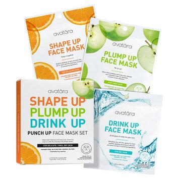 Avatara Punch Up Face Mask Set - 3ct