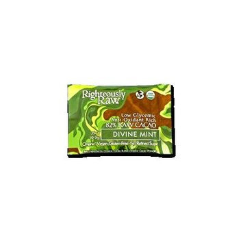 RIGHTEOUSLY RAW ORGANIC CHOCOLATE DIVINE MINT BITE SIZE, 16 - 0.35 OUNCE