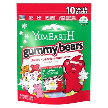 Yum Earth Christmas Organic Gummy Bears 6oz Bag
