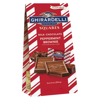 Ghirardelli Limited Edition Holiday Milk Chocolate Peppermint Brownie Squares 5.1 oz