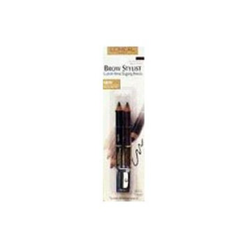 L'Oreal Brow Stylist Brow Shaping Duet, Black Brown 330, 2 ct.