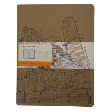 Moleskine Adult Coloring Notebook, Ruled, Kraft