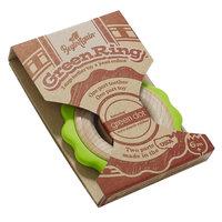 BeginAgain Wooden Green Ring Teething Toy, Pacifiers & Teethers