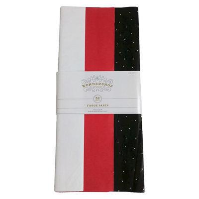 White/Pink/Black Banded Tissue Paper 30 ct - Wondershop, Multi-Colored