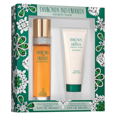 Women's Emeralds & Diamonds by Elizabeth Taylor Fragrance Set 2 -Piece